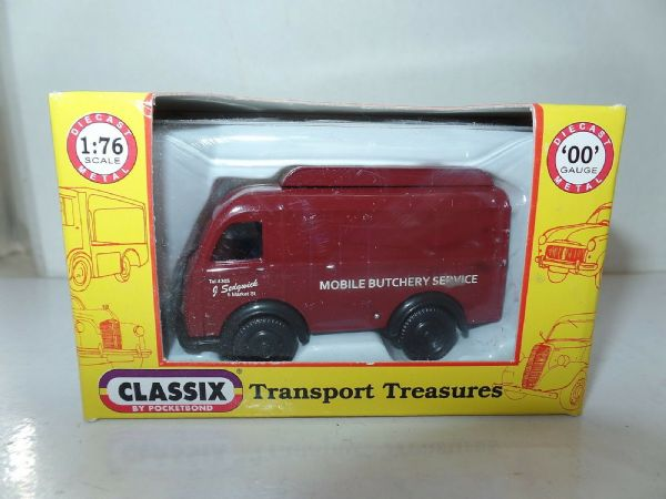 Classix EM76692 1/76 OO Scale Austin K8 3 Three Way Van Sedgewick Mobile Butcher